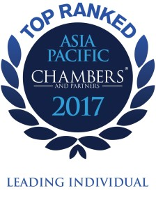 Chambers & Partners 2017 -Asia Pacific -Leading Individual